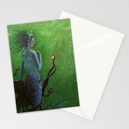 The Mermaid and the Octopus Stationery Cards
