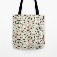 novelty Tote Bags featuring Yummy Sushi! by Eine Kleine Design Studio