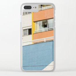 color block beach Clear iPhone Case
