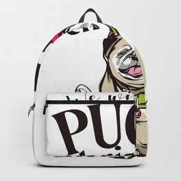 pugly christmas  Backpack