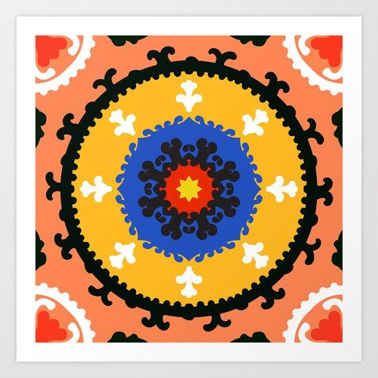 Bold and bright beauty of suzani patterns ver.8 Art Print