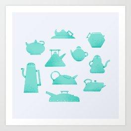 Teapots Curves Art Print