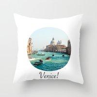 venice Throw Pillows featuring Venice! by Adrian Lungu