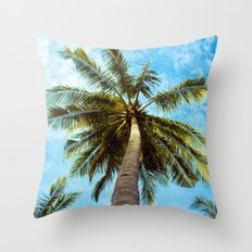 Palm Trees In The Sky Throw Pillow