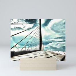 Sunshine Skyway Bridge in saturated  neutrals - St. Pete, FL - Florida photography  Mini Art Print