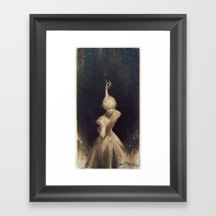 The old astronomer framed art print by charliebowater for Wall pictures