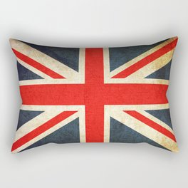Vintage Union Jack British Flag Rectangular Pillow