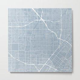 Santa Ana Map, USA - Slate Metal Print