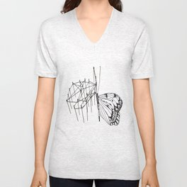 butterfly effect TWO Unisex V-Neck