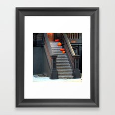 Two Dark Squats, Two Light Rounds Framed Art Print