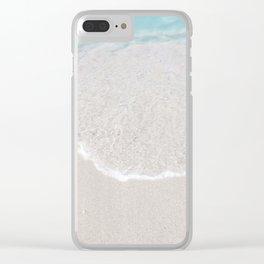 white sand beach Clear iPhone Case
