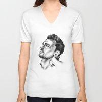 tom hiddleston V-neck T-shirts featuring Tom Hiddleston 2 by aleksandraylisk