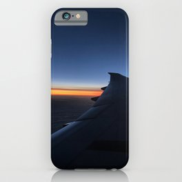 A airplane pastel colored sky sunset view | colorful vacation| Europe travel photography | Art Print iPhone Case