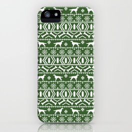 Irish Setter fair isle christmas green and white holiday sweater gifts dog breed iPhone Case
