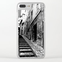 Spoleto, Italy Street Stairs Clear iPhone Case