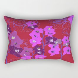 Oriental Orchids Rectangular Pillow