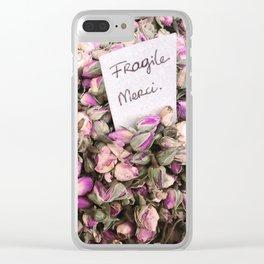 Fragile flowers, Nice France Clear iPhone Case