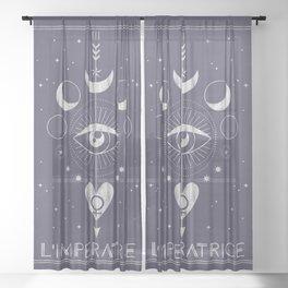 L'Imperatrice or L'Empress Tarot Sheer Curtain