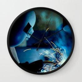 The Welder Wall Clock