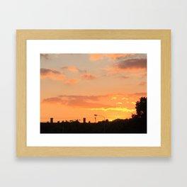 Sunset in Japan Framed Art Print