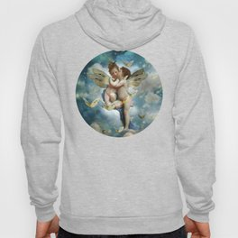 """Angels in love in heaven with butterflies"" Hoody"