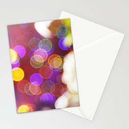 Bright and Blurred City Lights Stationery Cards
