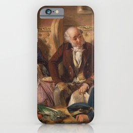Abraham Solomon - And at first meeting loved (1855) iPhone Case