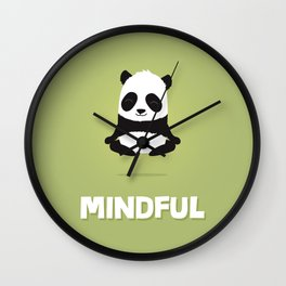 Mindful panda levitating Wall Clock