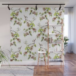 Camellia Inspired Flower Branch Wall Mural