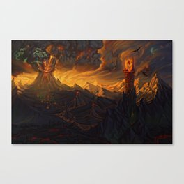 And in the Darkness Bind Them Canvas Print