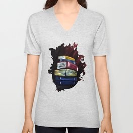 Books Of Knowledge Unisex V-Neck