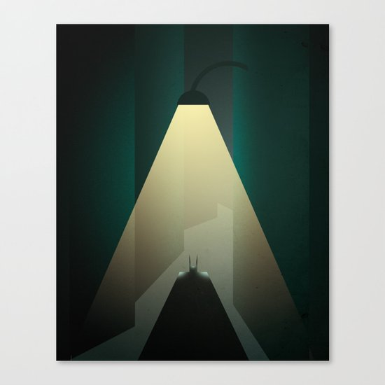 Smooth Heroes - Alone in the dark Canvas Print