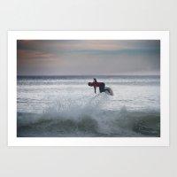 Legend & Pro Surfer Kelly Slater Art Print