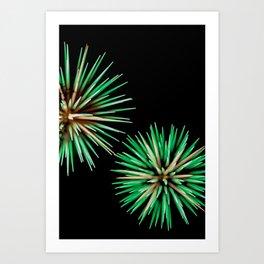 Green Flowerworks (Fireworks) Art Print