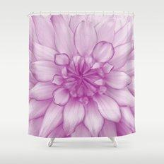Dahlia Radiant Orchid  - JUSTART © Shower Curtain