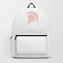 Roman Galea or Helmet in Japanese Peach Backpack