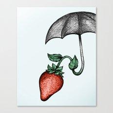Strawbrella Canvas Print