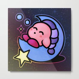 Kirby Sleep (no text) Metal Print