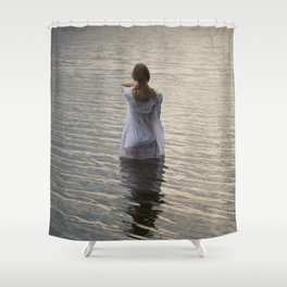 Dreaming in the water Shower Curtain