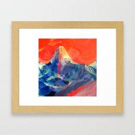 Abstract Mt. Everest Framed Art Print