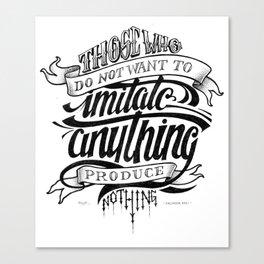 Quote - Dali 1 - Typedesign Canvas Print