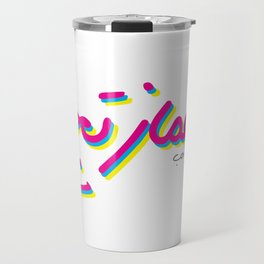 I really love your dimples (arabic) Travel Mug