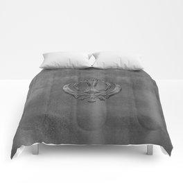 Metallic Embossed Khanda symbol Comforters