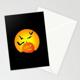 Halloween Moon Jack-O-Lantern Stationery Cards