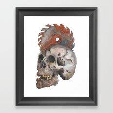 Inked up Skull Framed Art Print