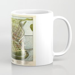 Bird's Eye View of Holyoke, Massachusetts (1877) Coffee Mug