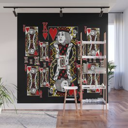BLACK KING OF HEARTS CASINO PLAYING CARDS FROM Wall Mural