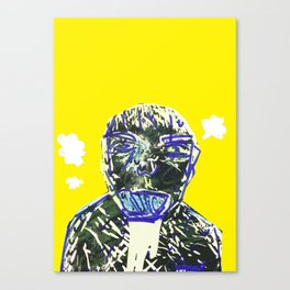 Tired (Yellow) V.2 Canvas Print