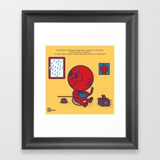 The Monkey and the Rain Framed Art Print