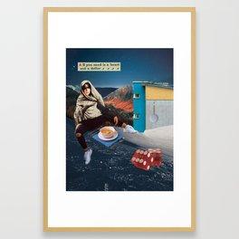 A Heart and a Dollar Framed Art Print